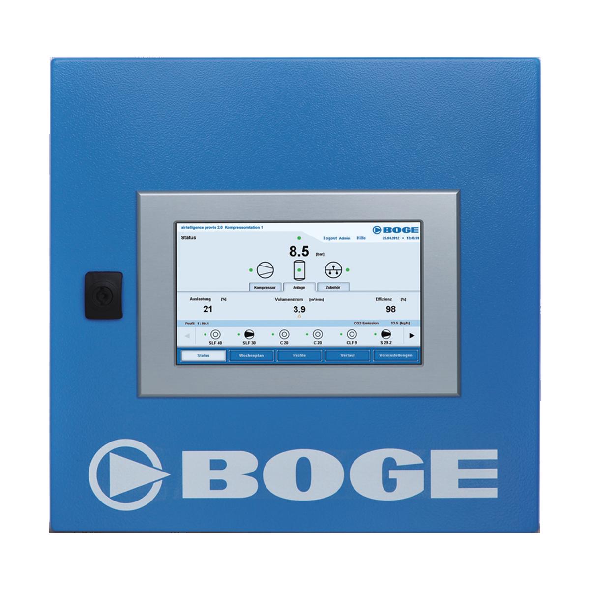 Abbildung Airtelligence Dashboard von BOGE Kompressoren, klein