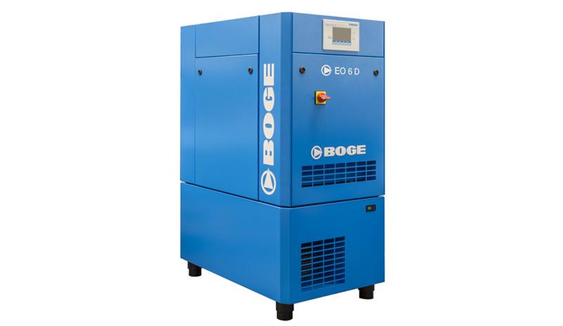 Der neue Scrollkompressor EO 6 D von BOGE ist platzsparend und arbeitet extrem leise und vibrationsarm.