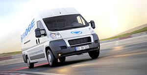 Imagen del vehículo de servicio móvil de BOGE Compresores