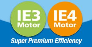Imagen del logotipo de eficiencia Super Premium IE3 e IE4 de BOGE Compresores